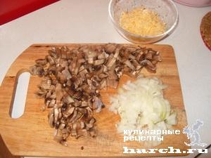 Рулетики из тилапии с грибами и сыром в яйце