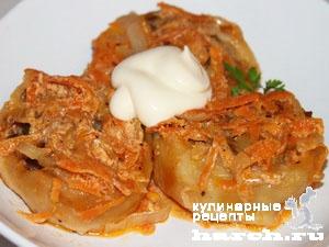 Рулетики со свининой и картофелем