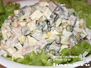 Салат из буженины с овощами
