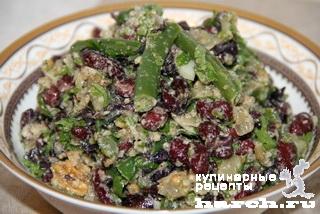 Салат из фасоли с орехами по-армянски
