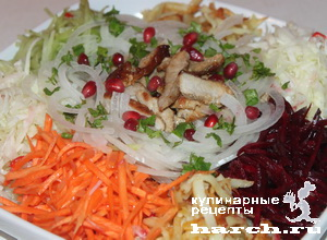"Салат из жареного мяса с овощами ""Чафан"""