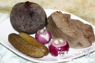 """Салат из говяжьей печени со свеклой """"Саломея"""""""