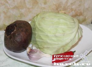 Салат из капусты со свеклой по-грузински