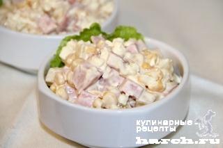 salat is kolbasi s ananasom valentin 6 Салат из колбасы с ананасом Валентин