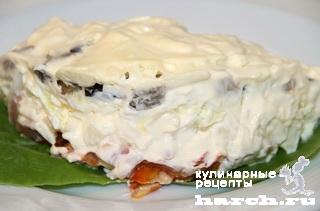Салат из копченой курицы с баклажанами