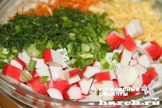 Салат из крабовых палочек с корейской морковью