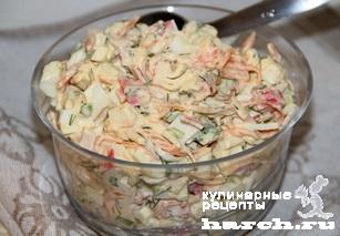 salat is krabovih palochek s koreyskoy morkoviu valeriya 5 Салат из крабовых палочек с корейской морковью Валерия