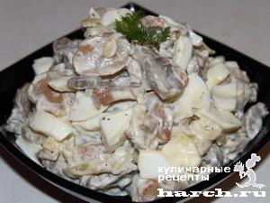 salat is kurinih geludochkov s gribami 61 ����� �� ������� ���������в � �������