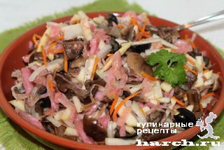 salat is kvashenoy kapusti s gribami alenka 4 Салат из квашеной капусты с грибами Аленка