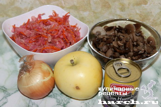 salat is kvashenoy kapusti s gribami alenka 6 Салат из квашеной капусты с грибами Аленка