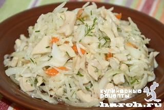 salat is kvashenoy kapusti s kalmarami po sahalinsky 3 Салат из квашеной капусты с кальмарами по сахалински