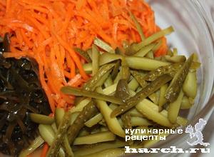 салат из моркови и капусты по корейски