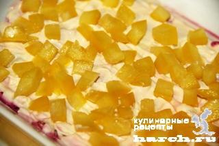 Салат из сайры со свеклой