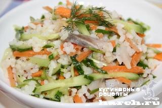 Салат из сельди с рисом по-калачеевски
