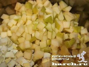 Салат из свеклы с говядиной и сельдью