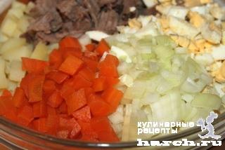 Салат из телятины с киви