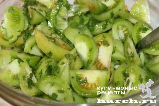 Салат из зеленых помидоров по-воронежски