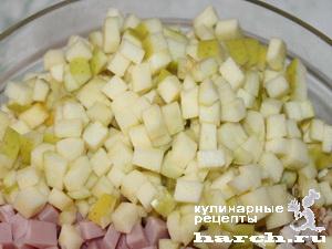 """Салат куриный с ветчиной """"Чешский"""""""