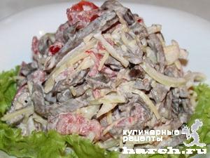 как приготовить салат из сердца говяжьего