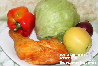 """Салат с копченой курицей """"Тауэр"""""""