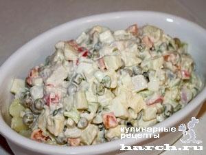 Салат из консервы крабового мяса рецепт очень вкусный