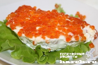 salat s krasnoy riboy i ikroy nega 6 ����� � ������� ����� � ����� ����