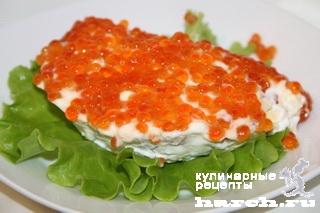 salat s krasnoy riboy i ikroy nega 7 ����� � ������� ����� � ����� ����