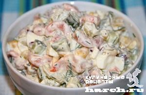 Салат из креветок с кукурузой рецепт очень вкусный