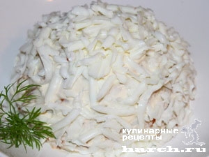 Салат с семгой Снежки