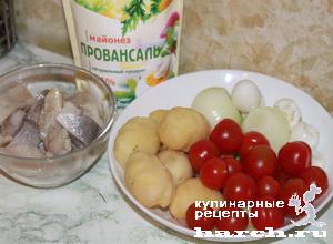 """Салат с сельдью """"Варна"""""""