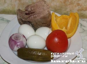 """Салат с языком """"Сплетница"""""""