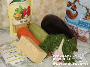 Шарлотка овощная с творогом