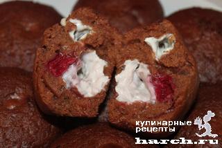 shokoladnie keksi s tvorogom i vishney 13 Шоколадные кексы с творогом и вишней
