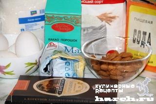shokoladnie pirognie s mindalem brounise 02 Шоколадные пирожные с миндалем Брауниз