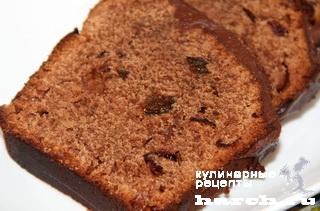 Шоколадный кекс с черносливом