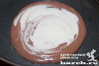Шоколадно-творожный мрамор