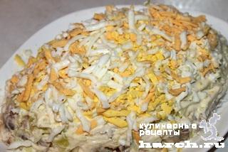 Скандинавский салат с сельдью и рисом