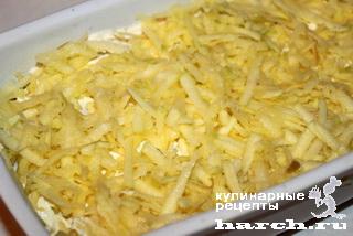 Слоеный салат из говядины с курицей