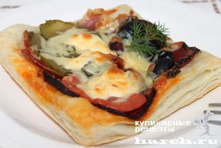 """Слойки-пиццеты """"Барселона"""""""