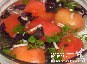 Соленые помидоры-однодневки