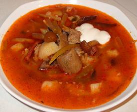 solyanka gribnaya s solenimi gruzdyami 12 Солянка грибная с солеными груздями