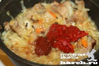 Солянка с уткой и рисом