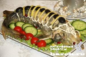 sterlyad farshirovanaya semgoy i gribami 10 Стерлядь, фаршированная семгой и грибами