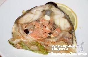 sterlyad farshirovanaya semgoy i gribami 11 Стерлядь, фаршированная семгой и грибами