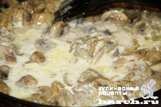 Суп с курицей и языком Строганов