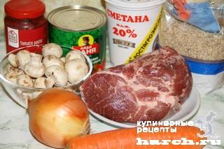 svinina s fasoliu i perlovkoy po zakarpatsky 02 Свинина с фасолью и перловкой по закарпатски