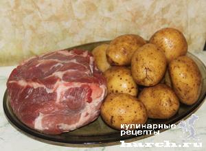 Свинина, запеченная на соли с картофелем