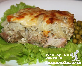 Свинина, запеченная в картофельном суфле