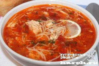 Томатный суп с вермишелью рецепты