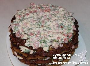 Торт из баклажанов